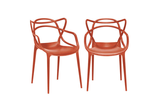 Kartell Masters Chairs (Pair) - Orange Rust