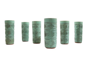 SOLD! Puerto Rican Pottery Tumblers by Hal Lasky
