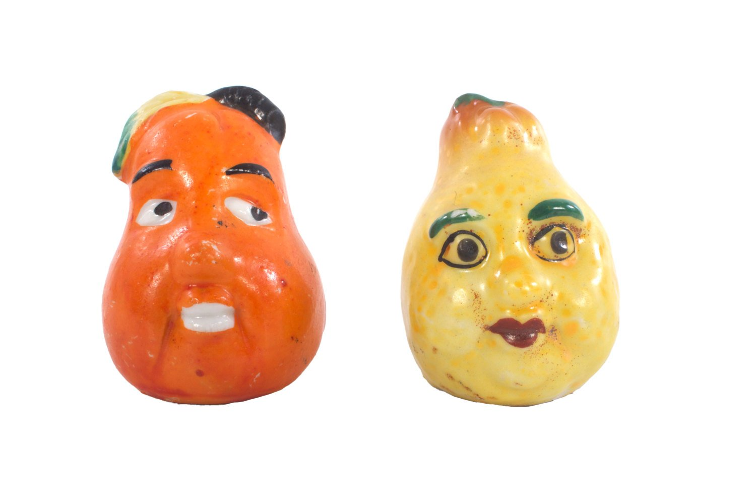 Kitschy Anthropomorphic Salt and Pepper Shakers Vintage 1950's
