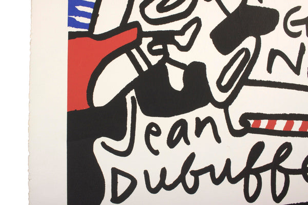 Original Pop Art Lithograph Jean DuBuffet Print Simulacres Pace Gallery