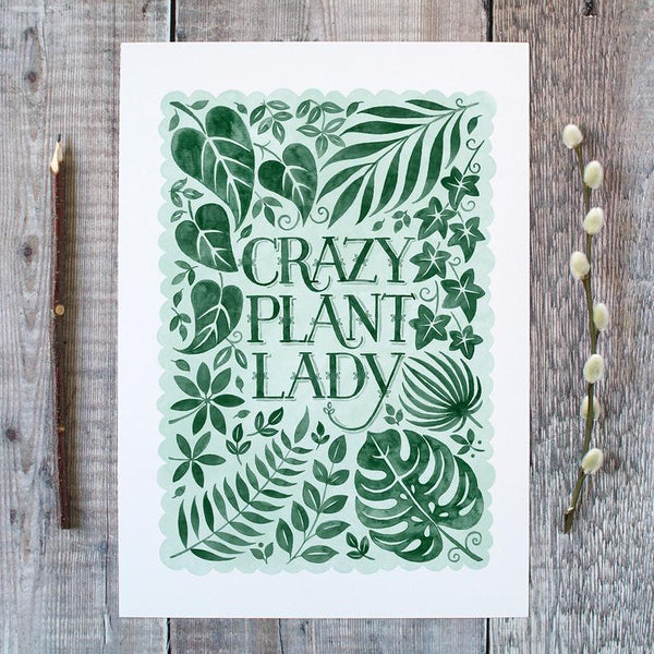 Crazy Plant Lady Print [variant_title] - Logan Malloch