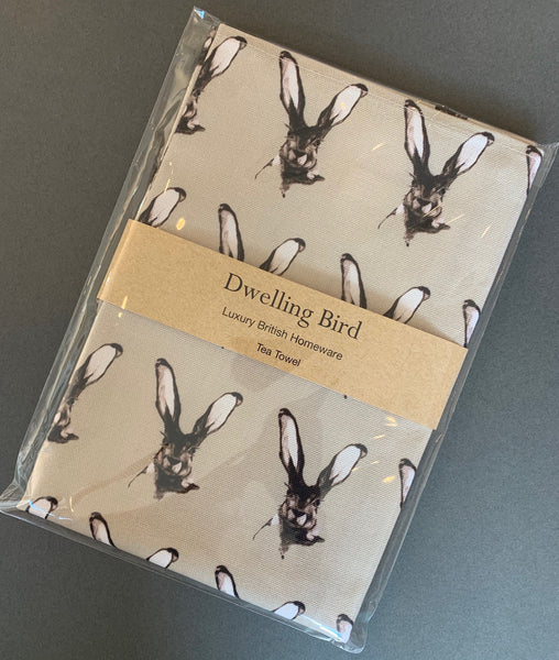 Dwelling Bird Tea Towels Dusted Stone / Jackrabbit - Logan Malloch
