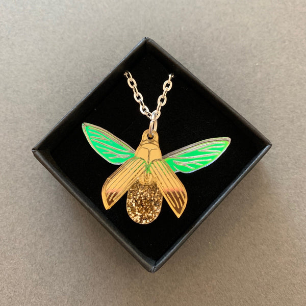 Glitterbug Necklace Glitterbug Gold - Logan Malloch
