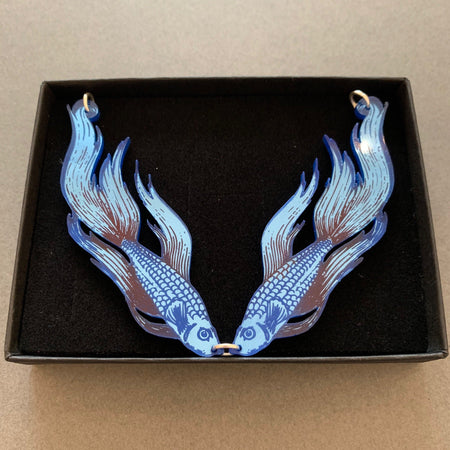 Fighting Fish Necklace