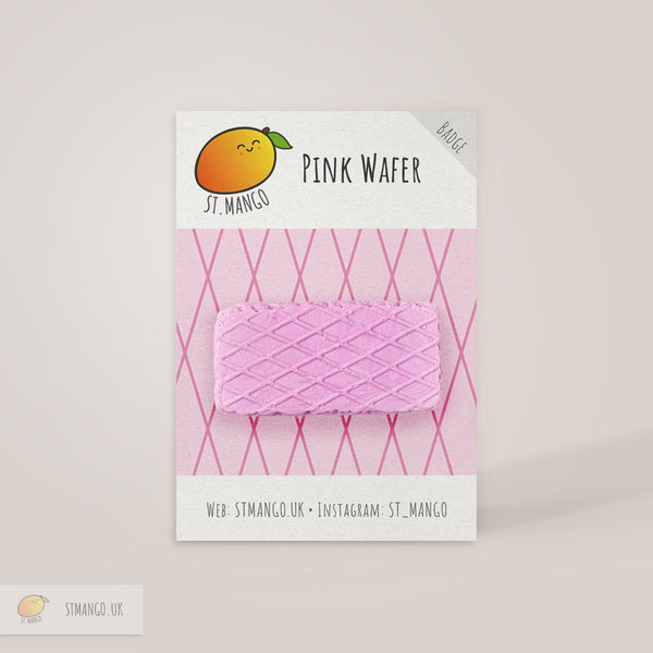 Pink Wafer Badge [variant_title] - Logan Malloch