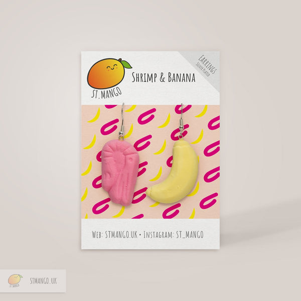 Shrimp & Banana Earrings [variant_title] - Logan Malloch