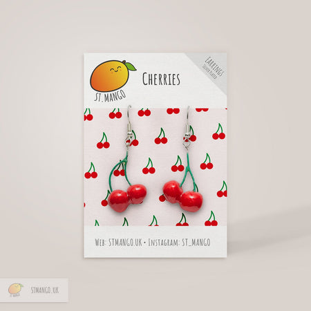 Cherries Earrings [variant_title] - Logan Malloch