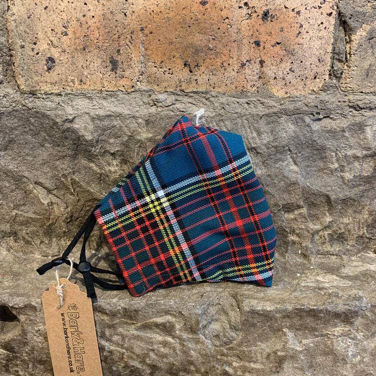 Tartan Face Coverings Anderson (Blue) / Medium - Logan Malloch