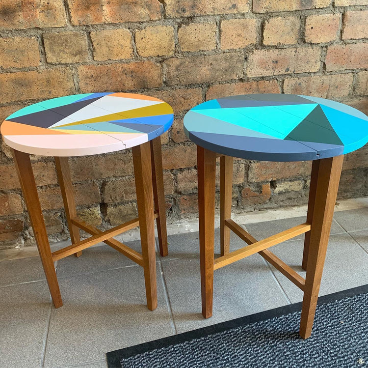 Happy Retro Folding Side Tables