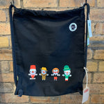 Chippy Clowns Gym Sack - Black [variant_title] - Logan Malloch