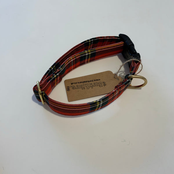 Dog Collar Stewart (Royal) (Red) / Large - Logan Malloch