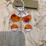 Vinyl Earrings Blood Orange Double Drop Earrings - Logan Malloch