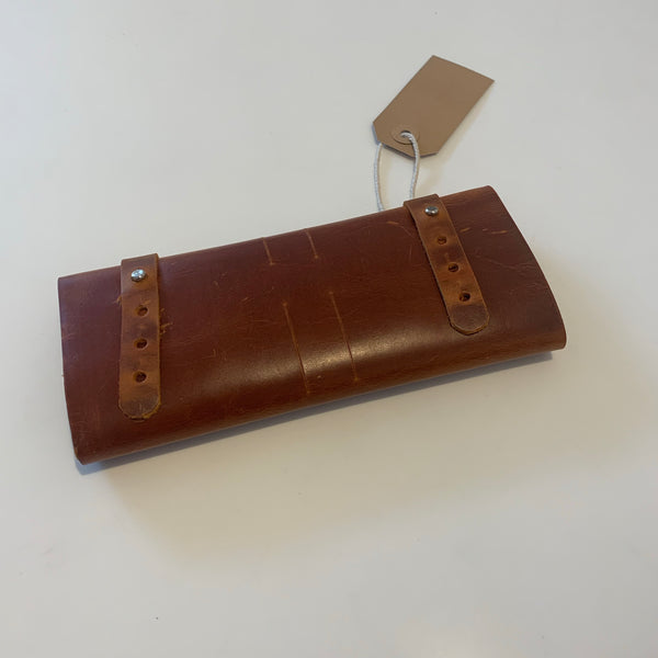 Leather Travel Organiser Brown - Logan Malloch