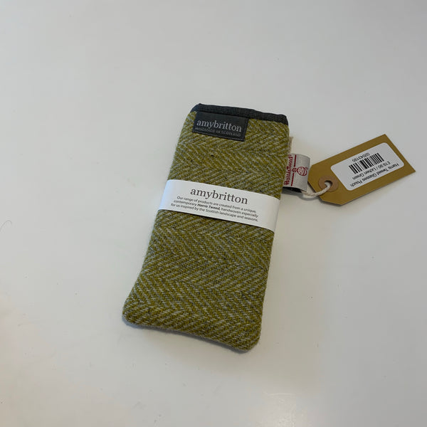 Harris Tweed Glasses Pouch Lichen Green - Logan Malloch