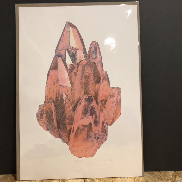 Pink Crystal Print [variant_title] - Logan Malloch