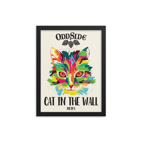 Cat In The Wall - Framed poster