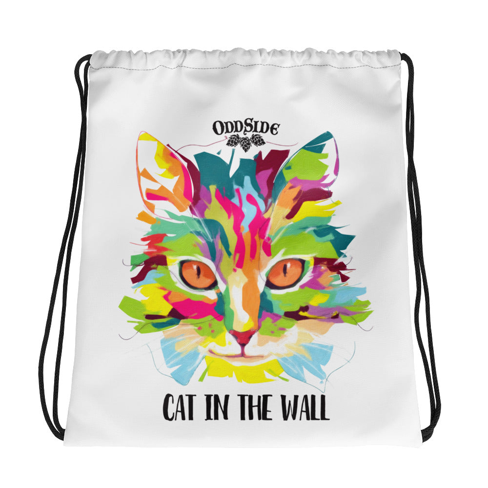Cat In The Wall - Drawstring bag