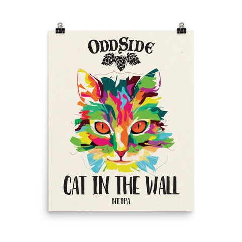 Cat in the Wall Poster