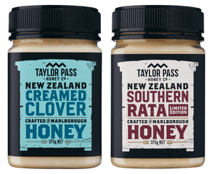 Taylor Pass Honey Co Taylor Pass Artisan Honey Selection Creamed Clover and Limited Edition Rata