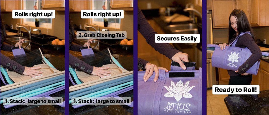 How to roll up Lotus Trolley Bags