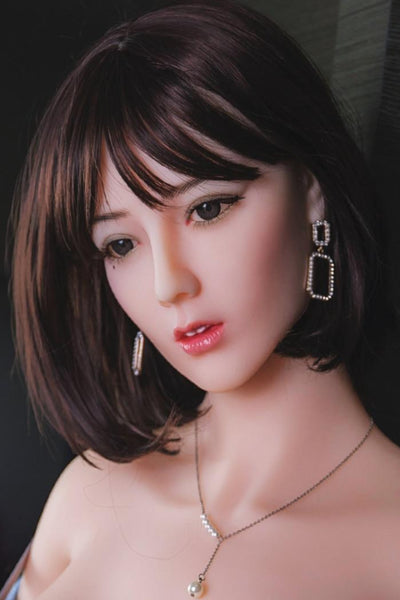 Sex doll close up face short hair