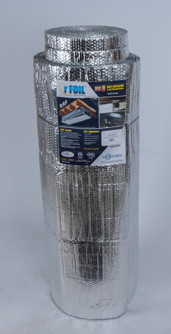 RFOIL BIG-8 REFLECTIVE BUBBLE DUCT WRAP