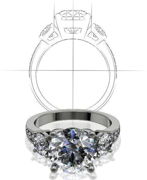 custom design engagement ring design