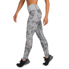 Load image into Gallery viewer, Blossom and Wren grey Illustrated Yoga Leggings - BlossomandWren