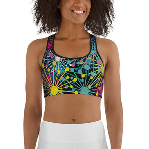 Electric Bloom Sports bra - BlossomandWren