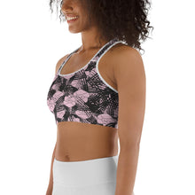 Load image into Gallery viewer, English Rose Dust of Pink Sports bra - BlossomandWren