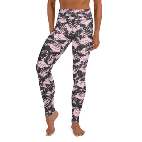 English Rose Dust of Pink Yoga Leggings - BlossomandWren