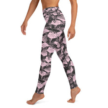 Load image into Gallery viewer, English Rose Dust of Pink Yoga Leggings - BlossomandWren
