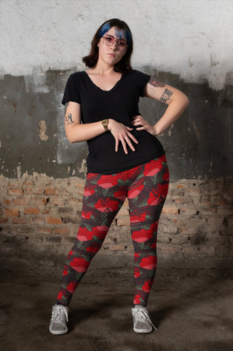 English Rose Yoga Leggings - BlossomandWren