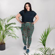 Load image into Gallery viewer, Green bloom print leggings - BlossomandWren