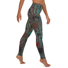 Load image into Gallery viewer, Green Bloom print yoga leggings - BlossomandWren