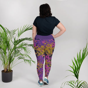 Marcia Abstract Print Plus Size Leggings - BlossomandWren