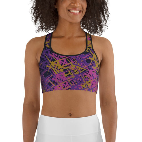 Marcia Abstract print sports bra - BlossomandWren