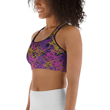 Load image into Gallery viewer, Marcia Abstract print sports bra - BlossomandWren