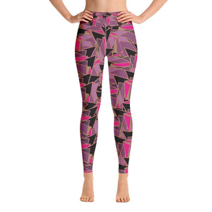 Mia abstract print yoga leggings - BlossomandWren