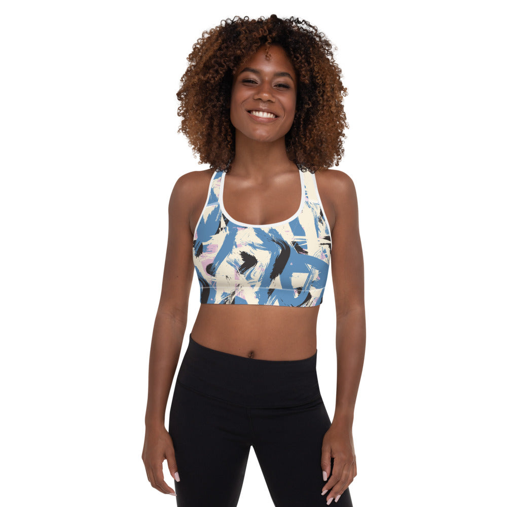 Abstraction Padded Sports Bra