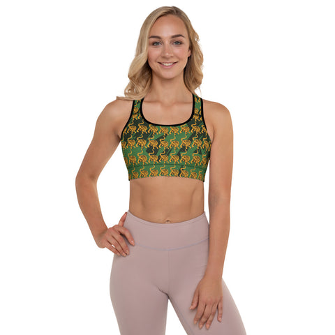 Tropical Tiger Padded Sports Bra