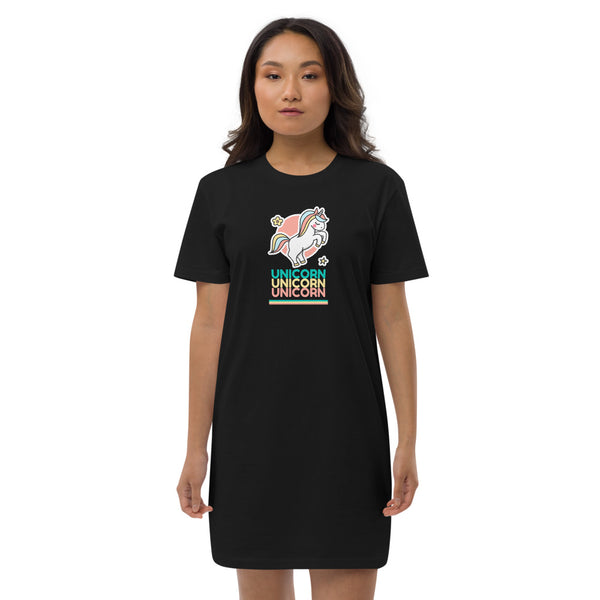 Unicorn Organic cotton t-shirt dress
