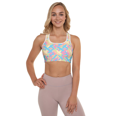 Holding on for Summer Padded Sports Bra