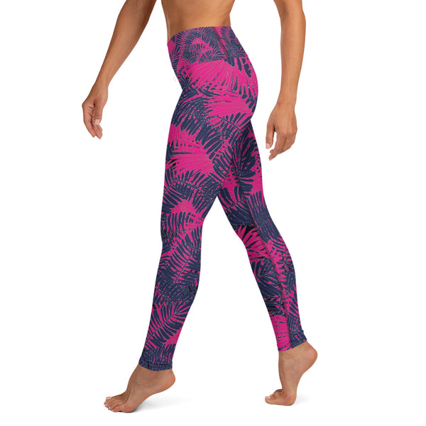 Tropical floral Yoga Leggings