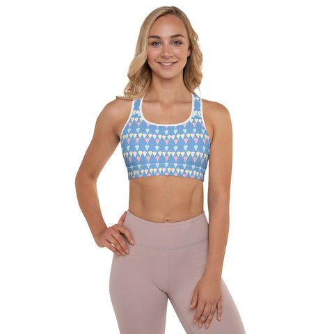 Homage to the Diamonds Padded Sports Bra