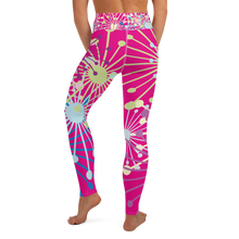 Load image into Gallery viewer, Pink Bloom yoga leggings