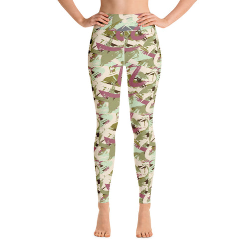 Camo abstract yoga leggings