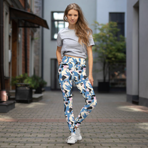 Abstraction Print Yoga Leggings