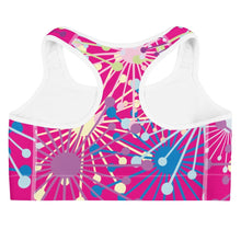 Load image into Gallery viewer, Pink Bloom Print Sports Bra - BlossomandWren