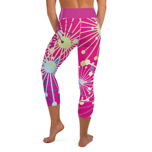 Pink Bloom Yoga Capri Leggings - BlossomandWren